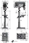 Column drilling machine diameter 25mm