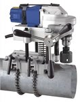 Pipe drilling machine - holes saws diameter 127mm