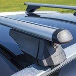 Roof rail bars for closed roof rails 120cm aluminium 75kg