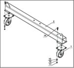 Mobile gantry crane 2 ton