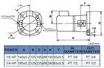 Self-priming coolant pump, heigth 240 mm, 0.18 kw, 230V