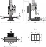 Drilling-milling 280x175x210 mm - the replacement for the BF20
