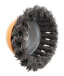 Steel brush bowl shape twisted diameter 100mm