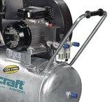 Belt driven oil compressor galvanized boiler 10 bar, 139kg - 200 liters_
