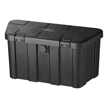 Storage box drawbar plastic 45L with number combination lock