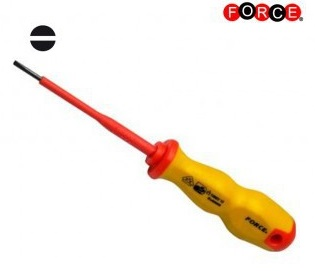 Insulated screwdriver flat