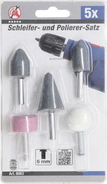 5-piece Mounted Grinding Point Set