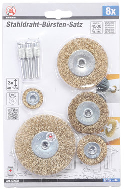 8-piece Steel Wire Brush Set