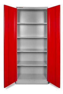 Universal storage cabinet with shelves