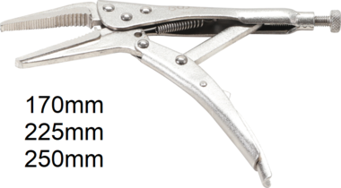 Locking Long Nose Grip Pliers