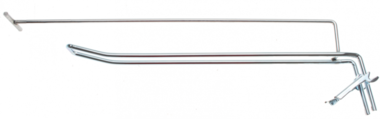 Wall hook double 300 x 4.8 mm with support arm and cross pin