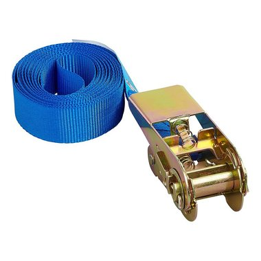 Tie down strap blue with ratchet 3.5 meter