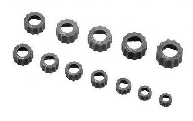 Damagenut/bolt extractor set 12-piece