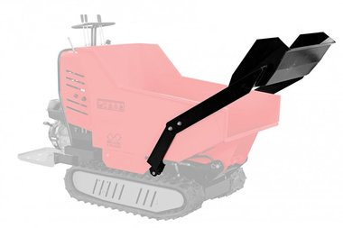 Snow plough for minidumper MRP500H/MRD500H