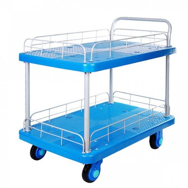 Platform truck 300kg 2 loading compartments with grids