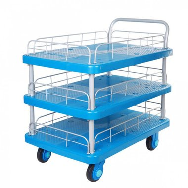 Platform truck 300kg 3 loading compartments