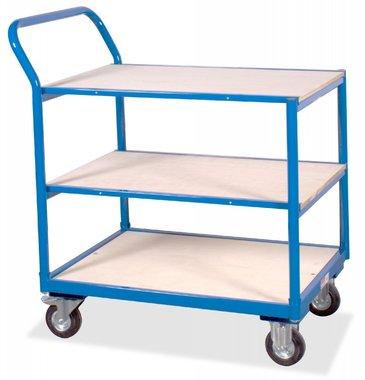 Flatbed trolley 3 shelves 250kg