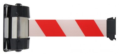 Barrier tape white/red wall mount 4 meters