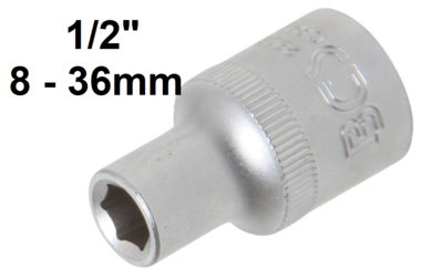 Socket, Hexagon 12.5 mm (1/2) Drive