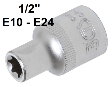 Socket, E-Type (1/2) Drive E10-E24