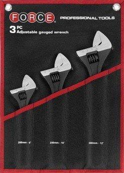 Adjustable wrench set 3-piece