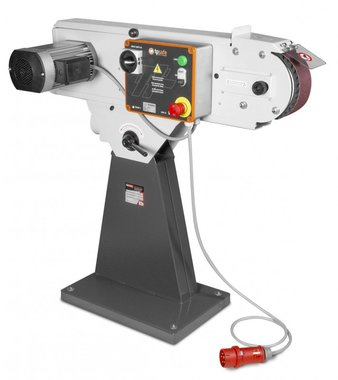 Belt sander 75x2000 mm 3x400v with electron. Engine brake