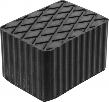 Bgs technic Rubberen pad  voor hefplatforms  160 x 120 x 100 mm