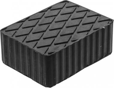 Bgs technic Rubberen pad  voor hefplatforms  160 x 120 x 60 mm