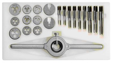 Miniature thread-cutting set from m1 to m2,5 - 30 pieces