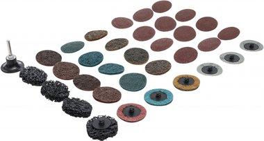 Grinding Wheels / Sanding Pad Set diameter 50 mm 35 pcs