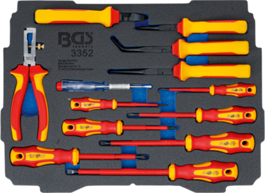 Foam Tray for BGS BOXSYS1 & 2: VDE Pliers / Screwdriver Set 13 pcs