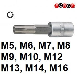 1/2 Ribe socket bit (100mmL)
