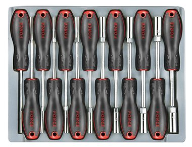 Hex nut screwdriver set 13pc