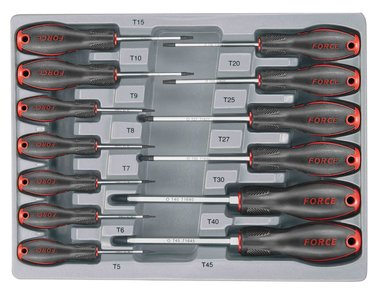 Star tamperproof screwdriver set 13pc
