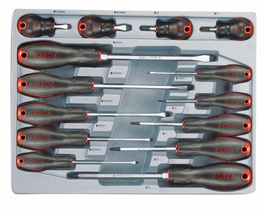 Screwdriver Slotted & Phillips set 14pc
