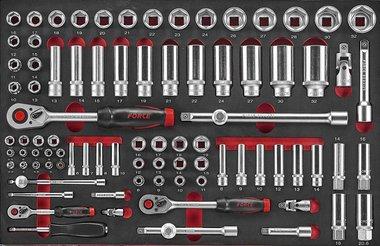 Foam 1/4 -3/8 -1/2 Socket Combination set 88pc