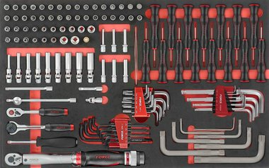 Foam 1/4 Socket Combination set 126pc