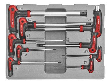 Hex ball point grip key set SAE 9pc