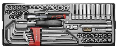 1/4 Socket combination set 65pc