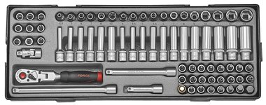 1/4 Socket combination set 74pc