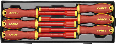 Insulated hex nut screwdriver set 6pc