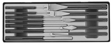 Chisel & pin punch set 12pc