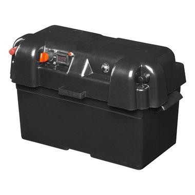 Battery box 35x18x20cm 2x USB - 1x 12V socket - Voltmeter