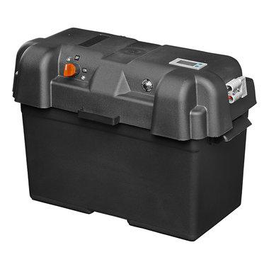 Battery box 35x18x23cm 2x USB - 1x 12V socket - Voltmeter - 2x Anderson connector