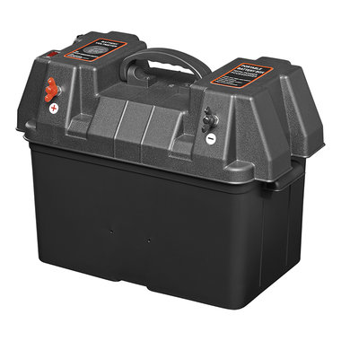 Battery box 33x20x20cm 2x USB - 2x 12V socket - Voltmeter