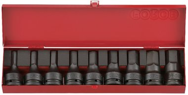 3/4 Hex impact socket bit set 9pc