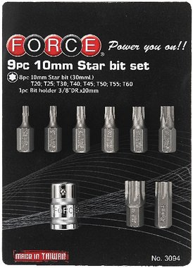 Star bit set 9pc