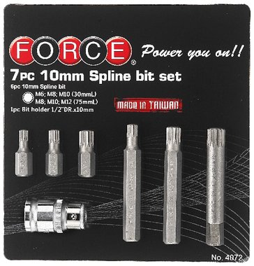 Spline bit set 7pc