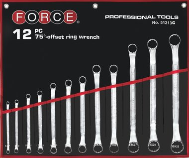 Offset ring wrench set 12pc