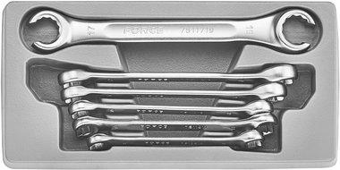 Flare nut wrench set SAE 6pc